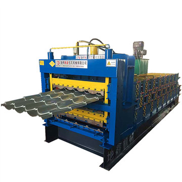 Three layers profile tile roofing panel forming machine