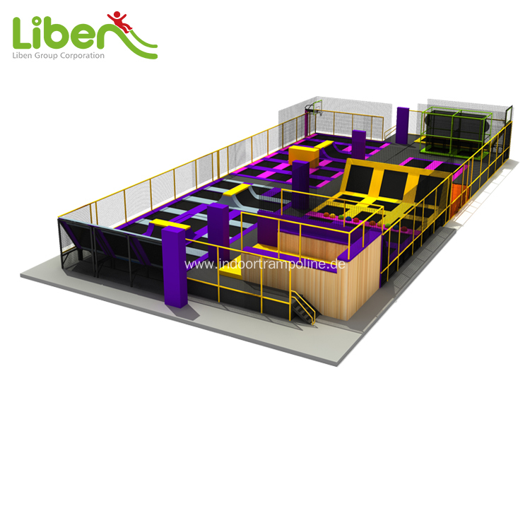 Large exercise kids indoor trampoline with airbag