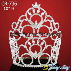 Large rhinestone wholesale crowns CR-736