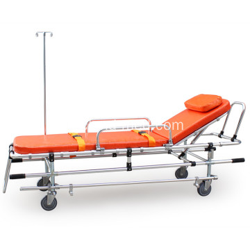 Civière en aluminium ambulance pliable d'hôpital orange