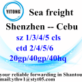 Shenzhen to Cebu Professional Shipping Company