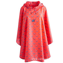 Allover Printing Nylon Rain Poncho With Pocket