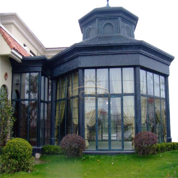 High Quality for Glass Room Sunroom Furniture Sale Canadian Wood Cheap Garden House supply to Mauritania Manufacturers