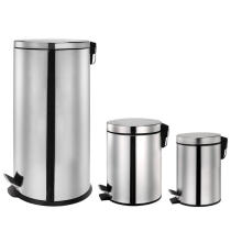 Stainless Steel Pedal Bin Set of Three