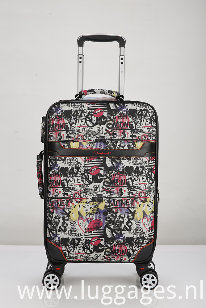 Printed Expandable Spinner Luggage