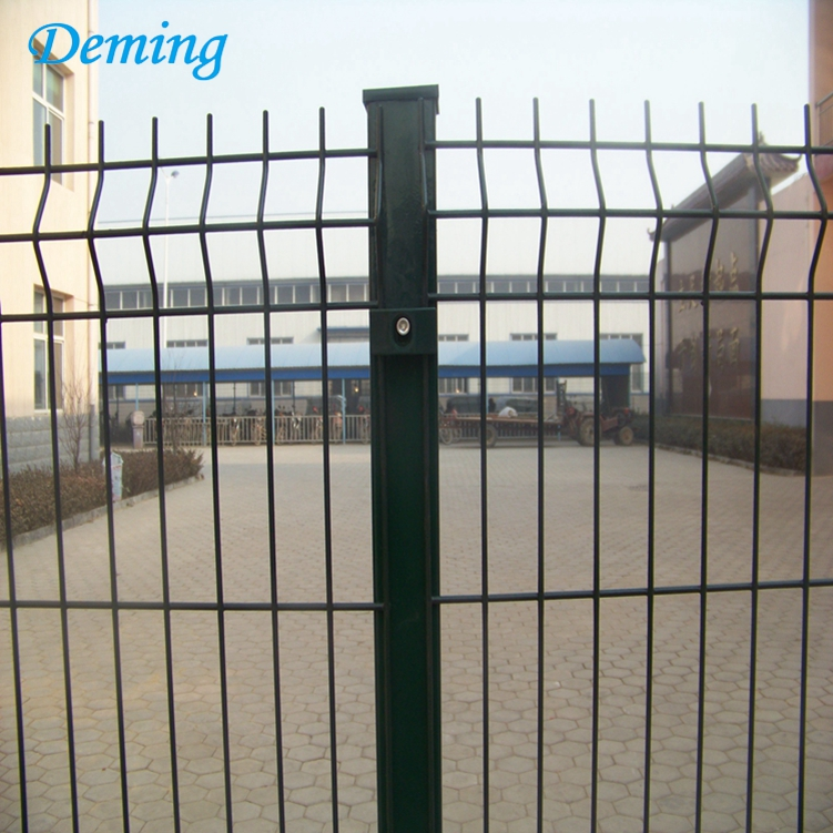 powder coated garden curved welded mesh fence