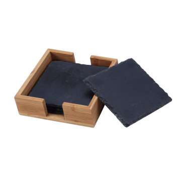 Marble & wood coasters set