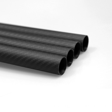 I-20x18x1000mm 3K Carbon Fiberi Fabric Tube Quadcopter iingalo