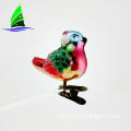 Glass Bird Ornament Clip-on Decoration Art Glass