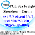 Shenzhen International Ocean Freight Shipping to Cochin