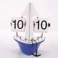 Blue Ship Flip Clock for Decor