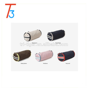Cylinder Portable Travel Organizer Underwear Underpants Bra Pouch Bag with Handle