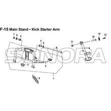 F-15 Main Stand Kick Starter Arm for XS175T SYMPHONY ST 200i Spare Part Top Quality