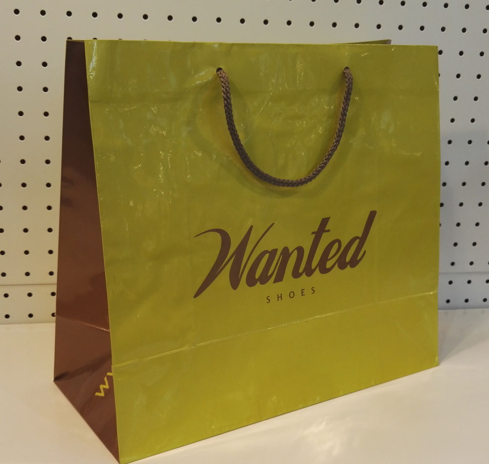 Gloss lamination paper bags with handles