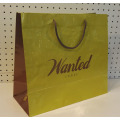 Colored Nylon Rope Handle Art Paper Bag