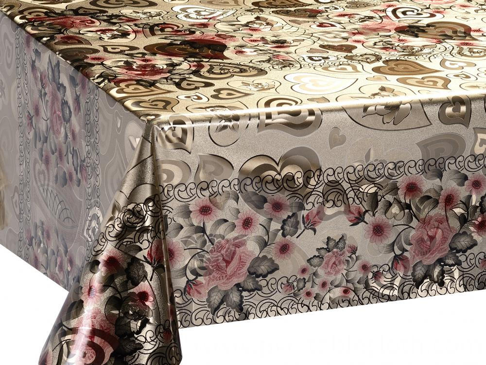 Double Face Silver Gold Tablecloth 1