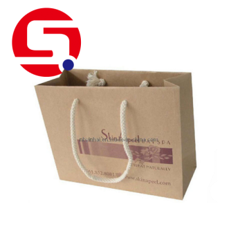 Custom brown paper bags with handles wholesale