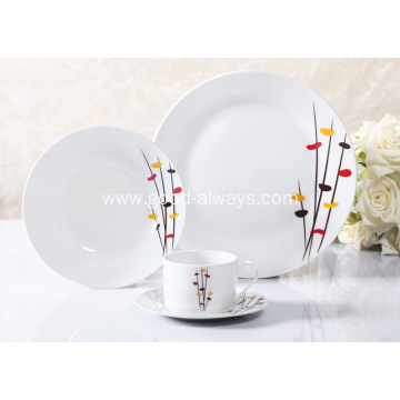 16 Piece Decal Porcelain Dinner Set