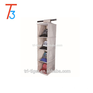 4-Shelf non woven and cardboard shoe organizer