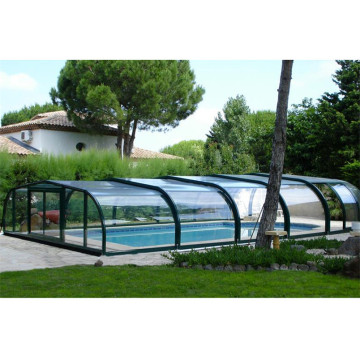 Swimming Polycaronate Enclosures Telescopic Pool Enclosure