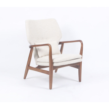 Modern designer Solid wood Wool Blend Carlo Chair