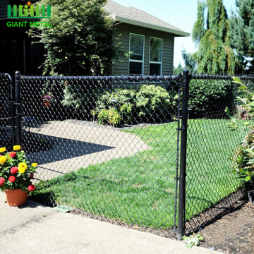 field steel chain link diamond rail fencing