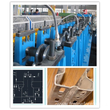 Market shelf pillar roll forming machine