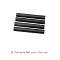1.0 / 2.0mm thickess twill matte carbon fiber tube