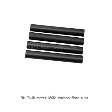 1.0/2.0mm thickess twill matte carbon fiber tube