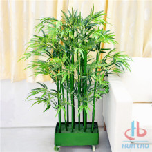 Artificial bamboo tree with wheel
