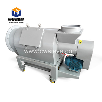 stainless steel horizontal airflow sifter for powder
