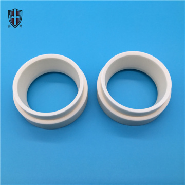 Al2O3 alumina ceramic threaded grommet flange