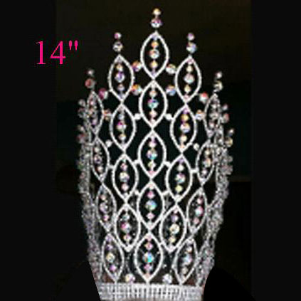 large special design rhinestone pageant crown CR-314