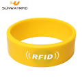 13.56mhz Silicone RFID Bangle Wristband for Access Control