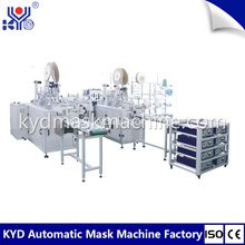 Disposable 3 Player Flat Face Mask Making Machine