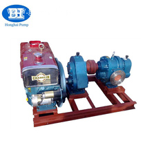 high viscosity horizontal pulley belt driven glue lobe pump