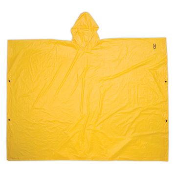 Reusable pvc  adult rain poncho with button