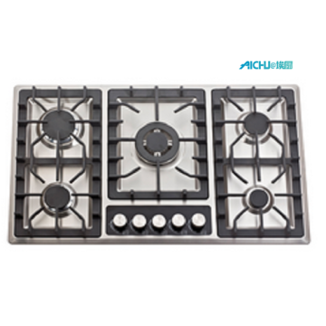5 Burners S.S Brushed Hob Gas Cooker