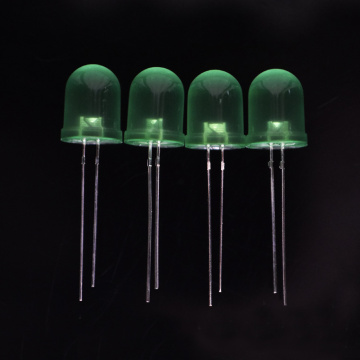 10mm Green LED with Diffused Lens 60 Degree