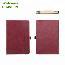 Wholesale PU leather Hardcover A5 Custom Notebook