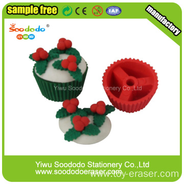 Cherry chocolate cream cake Shaped Eraser,eraser manufacturer