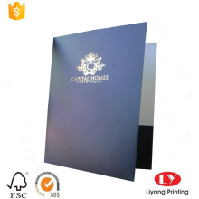 Black printed A4 document paper file folder