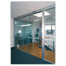 Hospital frameless sensor glass automatic screen door