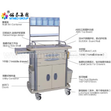 Locked anesthetic vehicles cart