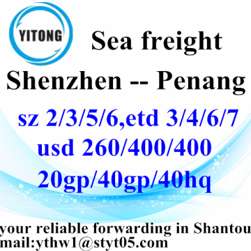 Shenzhen International Ocean Freight Shipping to Penang