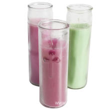 Religious glass jar 7 day candles picture