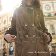 Mink Fur Long Overcoat In Winter