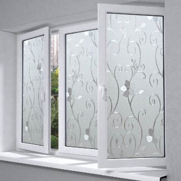 2019 upvc big glass window for bathroom factory sale