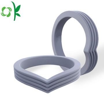 Heart-shape Layer Ring Silicone Wedding Finger Ring