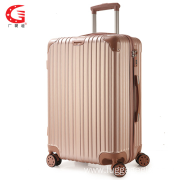 ABS drawing colorful trolley luggage travel bag